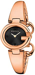 Gucci Men's YA134509 Gucci Guccissima Collection Analog Display Swiss Quartz Rose Gold Watch