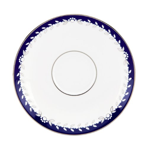 Lenox Marchesa Couture Tea Saucer, Empire Pearl Indigo