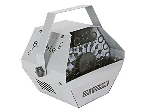 HQ Power - Máquina para hacer pompas de jabón (25 W, 1 litro), color plateado