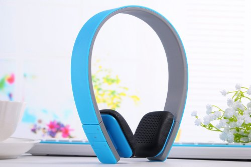 Wireless Bluetooth Stereo Headset Headphone For Mobile Cellphone Laptop Pc Tablet (Blue)