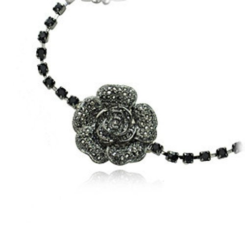 Chaomingzhen Charm Vintage Copper Black Rose Flower Choker Necklace with Unique Design Fashion Jewerly for Women Gothic Austria Crystal for Teen Girl