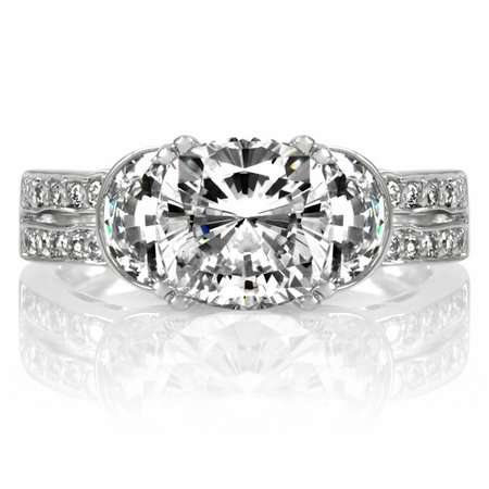 Macyn's CZ Cubic Zirconia Cushion Cut Engagement Ring - 2.5ct