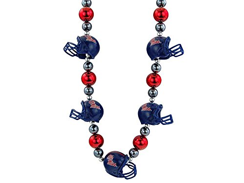 NCAA Mississippi Old Miss Rebels Thematic Beads Necklace