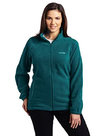 Columbia Women's Plus Size Benton Springs Full Zip Fleece Jacket, Blue Forest, 3X