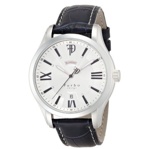 [フルボデザイン]Furbo design 腕時計 F5024 ネイビー革 ステンレススチール シルバー文字盤 自動巻き メンズ F5024SSIBL メンズ