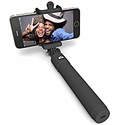 Selfie Stick, Perfectday Foldable Extendable Bluetooth Selfie Stick with Built-in Remote Shutter for iPhone 6s, 6, 6 Plus, 5, 5s, 5c - Black