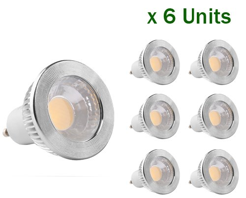6-Pack Of Golden Sun Etl-Listed Dimmable 5 Watt Gu10 Led Bulb, 50 Watt Equivalent, Gu10 Cob Led Spotlight Flood Bulb, 90 Degree, 90Lm/W, Ac 120V, Recessed Lighting, Track Lighting, 2700K Warm White