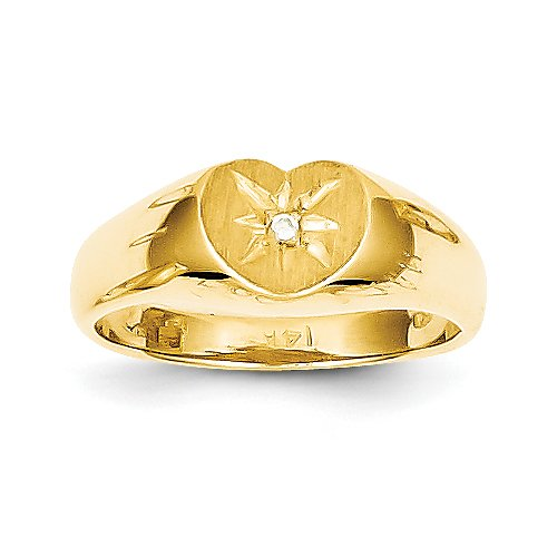 14k Child's AA Diamond Signet Ring