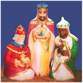 Amazoncom Lighted Plastic Wisemen For Traditional