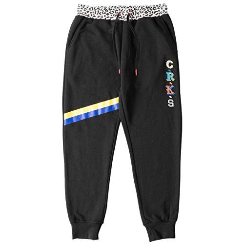 Crooks & Castles Men's Knit Sweatpant-Maison, Black, Large