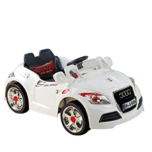 Ride on Car White Cabriolet Electric Child Kids Car -With Parental Remote Control-SAVE £££s OFF the RRP!
