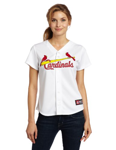 MLB St. Louis Cardinals Home Replica Baseball Women's Jersey, White, Large at Amazon.com