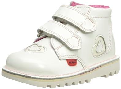 Kickers Girls Kick Sparkle Boots 112675 White 10 UK Child, 28 EU