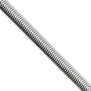 Black Bow Jewellery Company : 4.2mm Stainless Steel Flat Snake Chain - 30 Inches