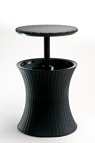 keter pacific rattan style outdoor cool bar ice cooler table garden furniture ebay. Black Bedroom Furniture Sets. Home Design Ideas