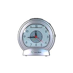 Sonic Boom SBA475ss Analog Loud Plus Vibrating Alarm Clock