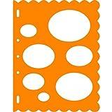 Fiskars 8.5x11 Inch Sheet Ovals Shape Template (Color: Orange)