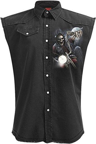 Spiral -  Camicia Casual  - Uomo Black XXXL