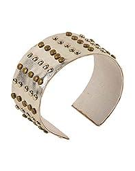 Tiekart Silver Embelished Women Bracelet/Cuffs