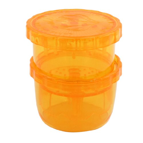 Plastic Orange Color Round Lemon Ginger Juice Juicer Squeezer