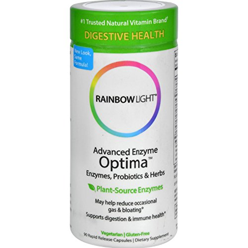 Rainbow Light Advanced Enzyme Optima -- 90 Capsules