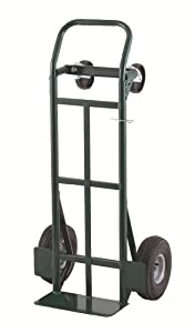 "Harper Trucks Super-Steel 700 lb Capacity Convertible Hand Truck with 10"" Pneumatic Tires"