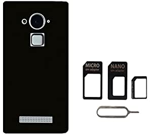 Tidel Black Back Cover For CoolPad Note 3 With MICRO/NANO SIM ADAPTER
