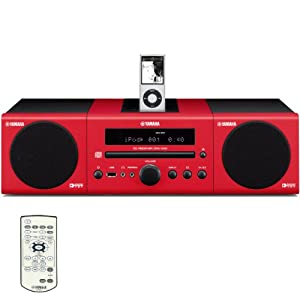 Yamaha MCR-040RE Micro Component System (Red) (Discontinued by Manufacturer)