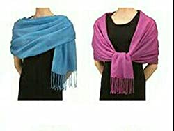 Letz Dezine Viscose set of Two multicoloured stoles; scarf and stoles for women