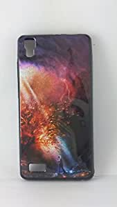 BlueArmor Sparkling Soft Back Cover Case For Lava Flair S1 Design 3