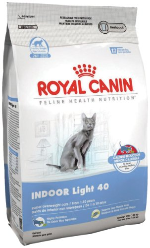 See Royal Canin Dry Cat Food, Light 40 Formula, 3-Pound Bag