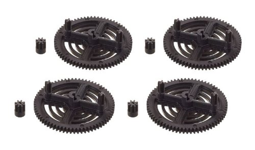 Parrot AR Drone 2.0 Pinion and Spur Gears by UltraFlightTM Upgraded Design and Material Black Parrot AR Drone 1.0 & 2.0 Repair Gears Replacement pinion and spur Spare parts