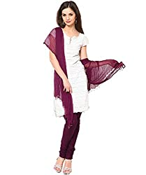 MemSahiba Women Plain Cotton Chudidaar Dupatta Combo (MS-1391_Wine)