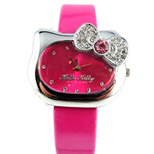 Watch design 'Hello Kitty'fuschia.