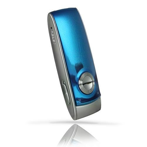 Latte LP-ICEM8GBLU ice M 8 GB MP3 Player with OLED Screen, FM Radio, FM Transmitter and Memory Expansion (up to 16GB) - Blue