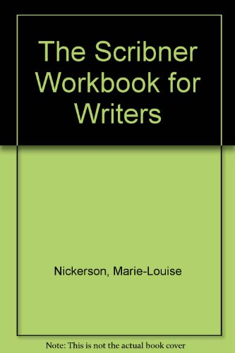 The Scribner Workbook for Writers PDF