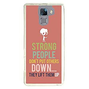 a AND b Designer Printed Mobile Back Cover / Back Case For Huawei Honor 7 (HON_7_3207)