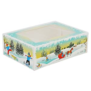 Winter Wonderland bakery boxes