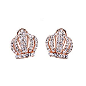 GOMO Charm Pren Shape Earrings Studs 18K Rolated Crystal Earings