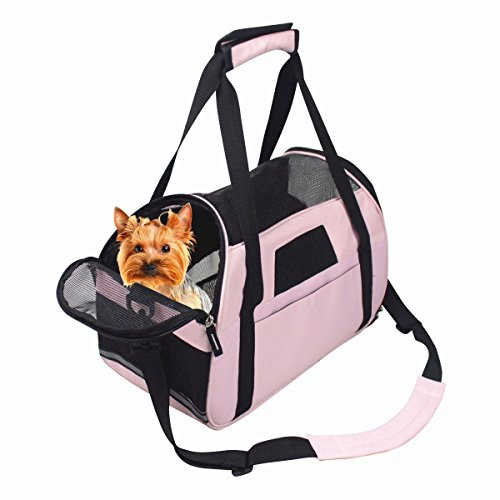 Pet Carrier Outdoor Tote Bag for Dogs or Cats Under 8 Pounds Approved for Air Travel and Flying – Cute and Convenient