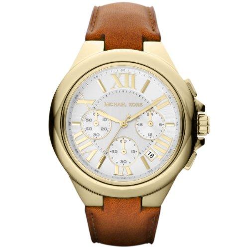 Michael Kors Damen-Armbanduhr XL Camille Chronograph Quarz Leder MK2266