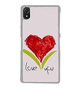 Love Heart 2D Hard Polycarbonate Designer Back Case Cover for Sony Xperia Z3 :: Sony Xperia Z3 Dual :: Sony Xperia Z3 D6633