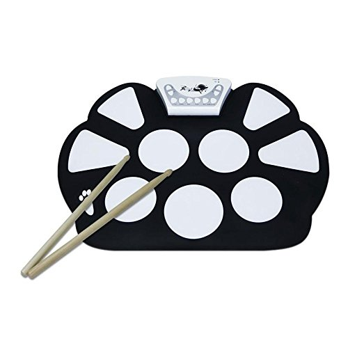 vtop-9-pad-flexiable-silicon-roll-up-electronic-drum-kit-with-drum-sticks-and-sustain-pedal-for-chil