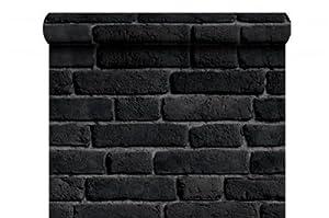 papier peint brique noir cuisine maison. Black Bedroom Furniture Sets. Home Design Ideas