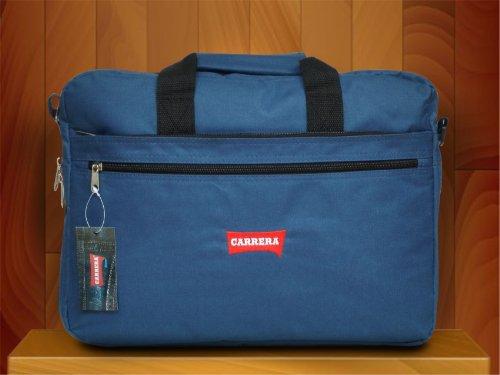 Borsa porta pc CARRERA unisex a tracolla sportiva in tessuto art.B445 blu