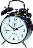 Acctim Keywound Saxon Bell Alarm Clock Chrome (Acctim keywound saxon bell alarm clock chrome luminous HANDS12 hour clock wind-up powered 175mm height bell alarm)