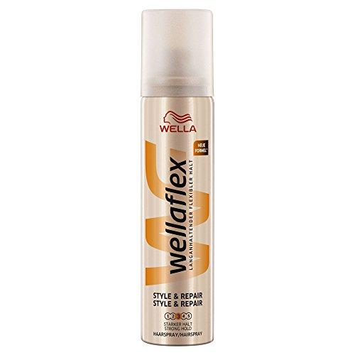 Wella Flex Style & riparazione Hairspray forte presa, pacco da 12 (12 x 75 ml)