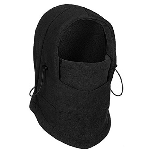 winter warm Fleece beanies hats for men skull bandana neck warmer balaclava ski snowboard face mask,Wargame Special Forces Mask (2 colors)) (Black)
