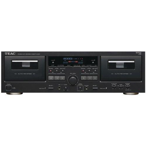Teac W-890R-B Double Auto-reverse Cassette Deck (Black)