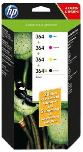 HP 364 Combo-pack schwarz XL/ Cyam/magenta/gelb Original Tintenpatronen